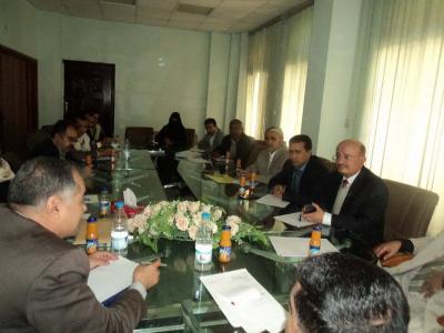 اجتماع موسع بين وزارة الأوقاف والإرشاد والجمعية السكنية لأعضاء هيئة التدريس