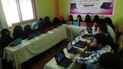 مؤسسة بصمة شباب التنموية تواصل برامجها التدريبية في اساسيات رخصة قيادة الحاسوب بتعز