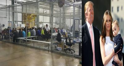 ميلانيا ترامب تندد بسياسة واشنطن وتأسف لنشر صور غير انسانية لاطفال مهاجرين في قفص حديدي دون رحمة