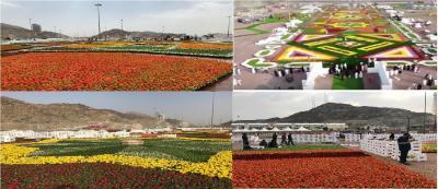 مكة تدشن مهرجان الزهور للمرة الأولى في تاريخها بمليون زهرة ومسرح ترفيهي