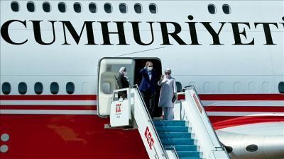 أردوغان يتوجه إلى الولايات المتحدة للمشاركة في أجتماعات الأمم المتحدة
